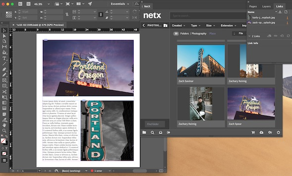 DAM InDesign Integration