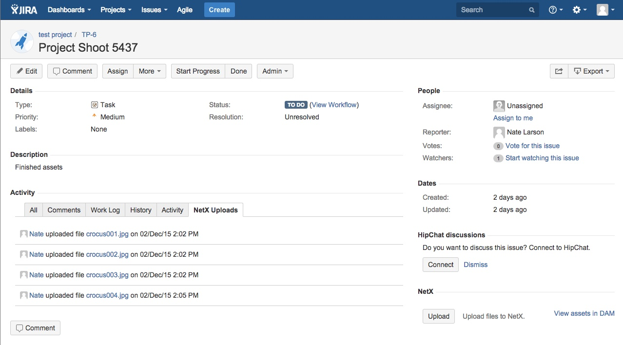Jira DAM Integration