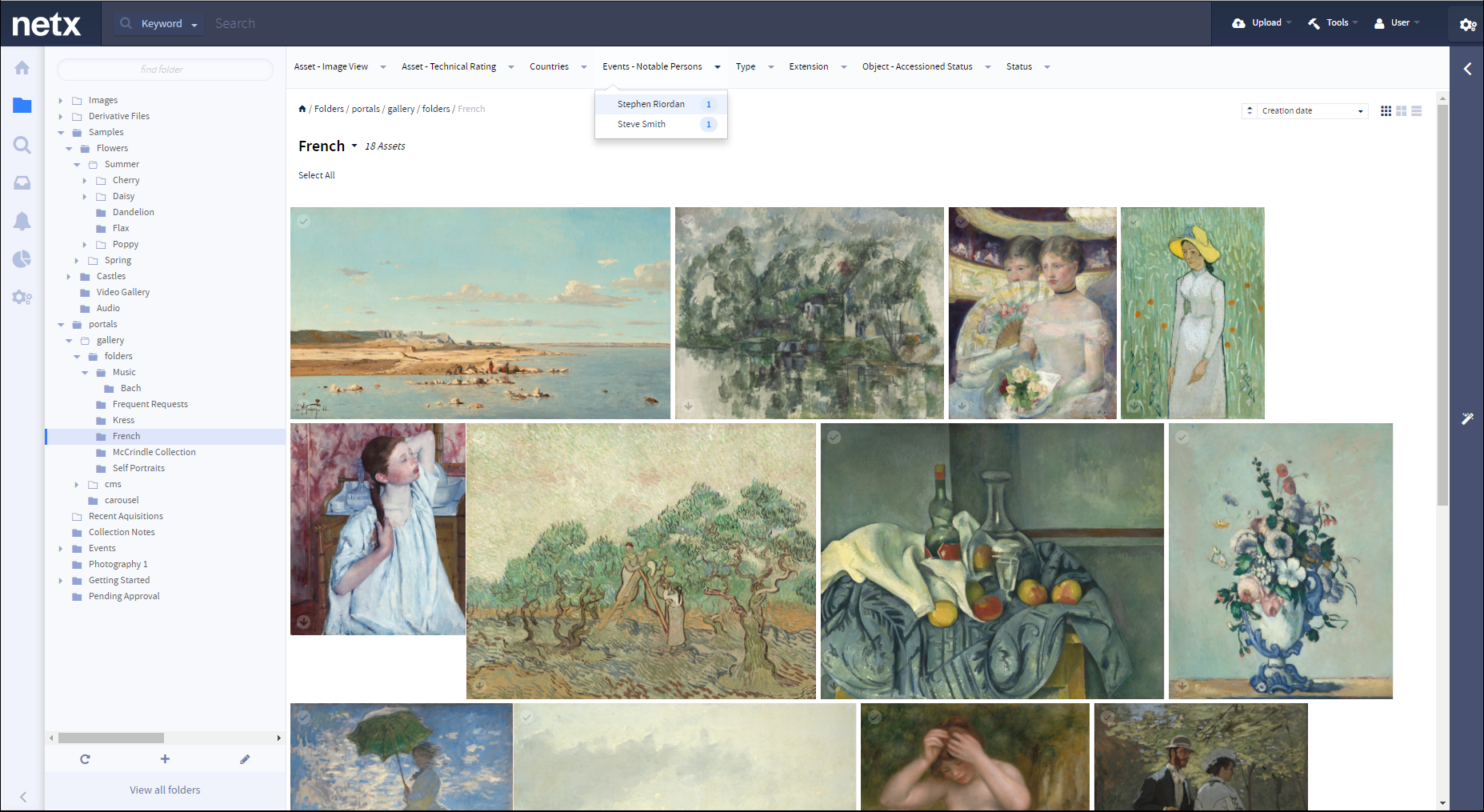 digital asset management image gallery